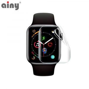 Премиум защитная гидрогелевая плёнка Ainy Apple Watch 38мм