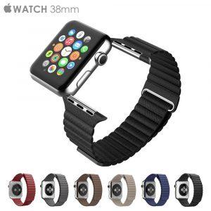 Кожаный ремешок Leather loop band (копия) Apple Watch 38/40мм (6 цветов)