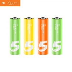 Алкалиновые батарейки Xiaomi Mi Zi5 Rainbow AA (4 шт)