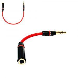 Адаптер 3,5mm mini jack (M) → 3,5mm mini jack (F)