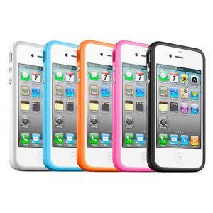 Бампер iPhone 4/4s (поликарбонат/силикон)